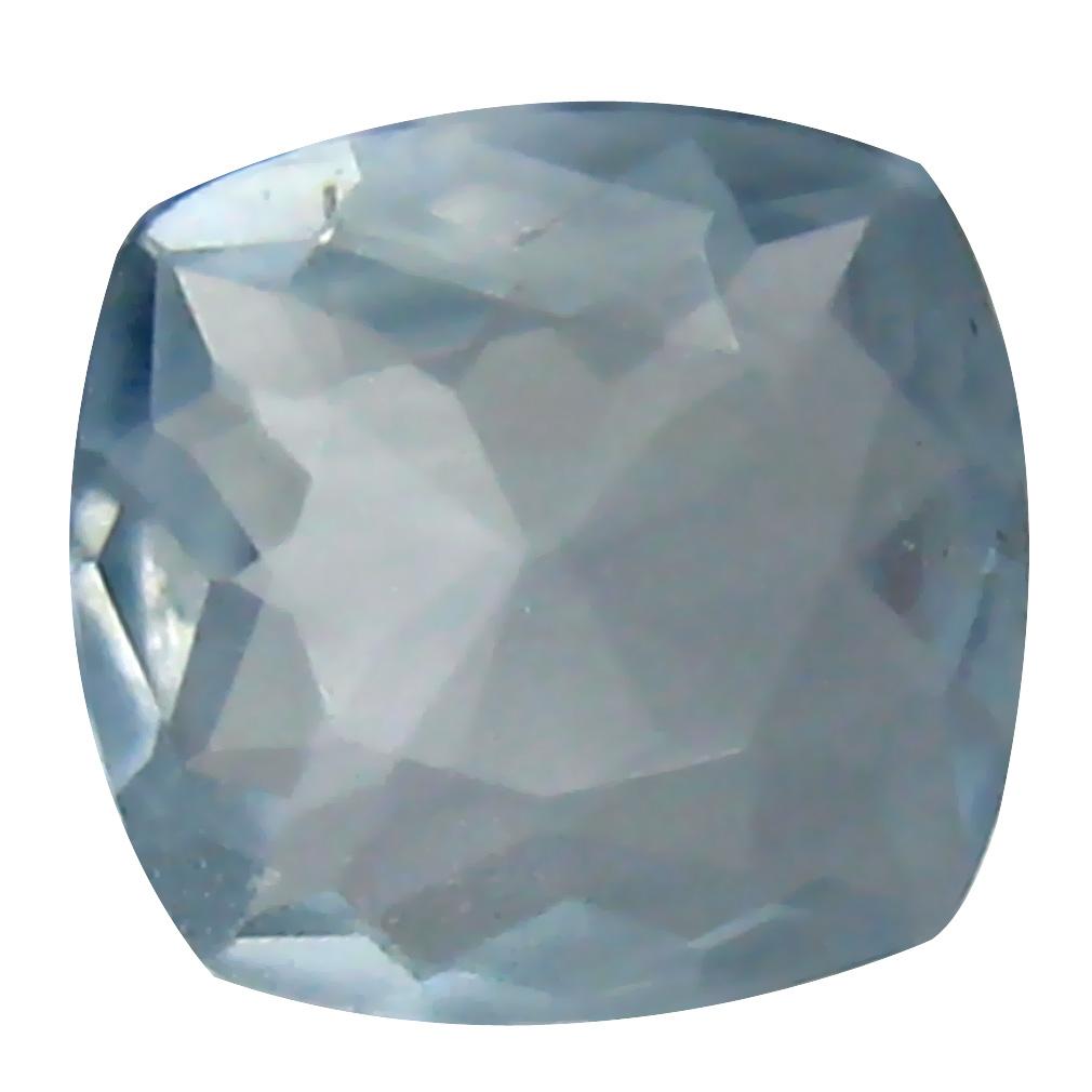 0.63 ct Very good Cushion Cut (6 x 6 mm) Blue Aquamarine Loose Stone