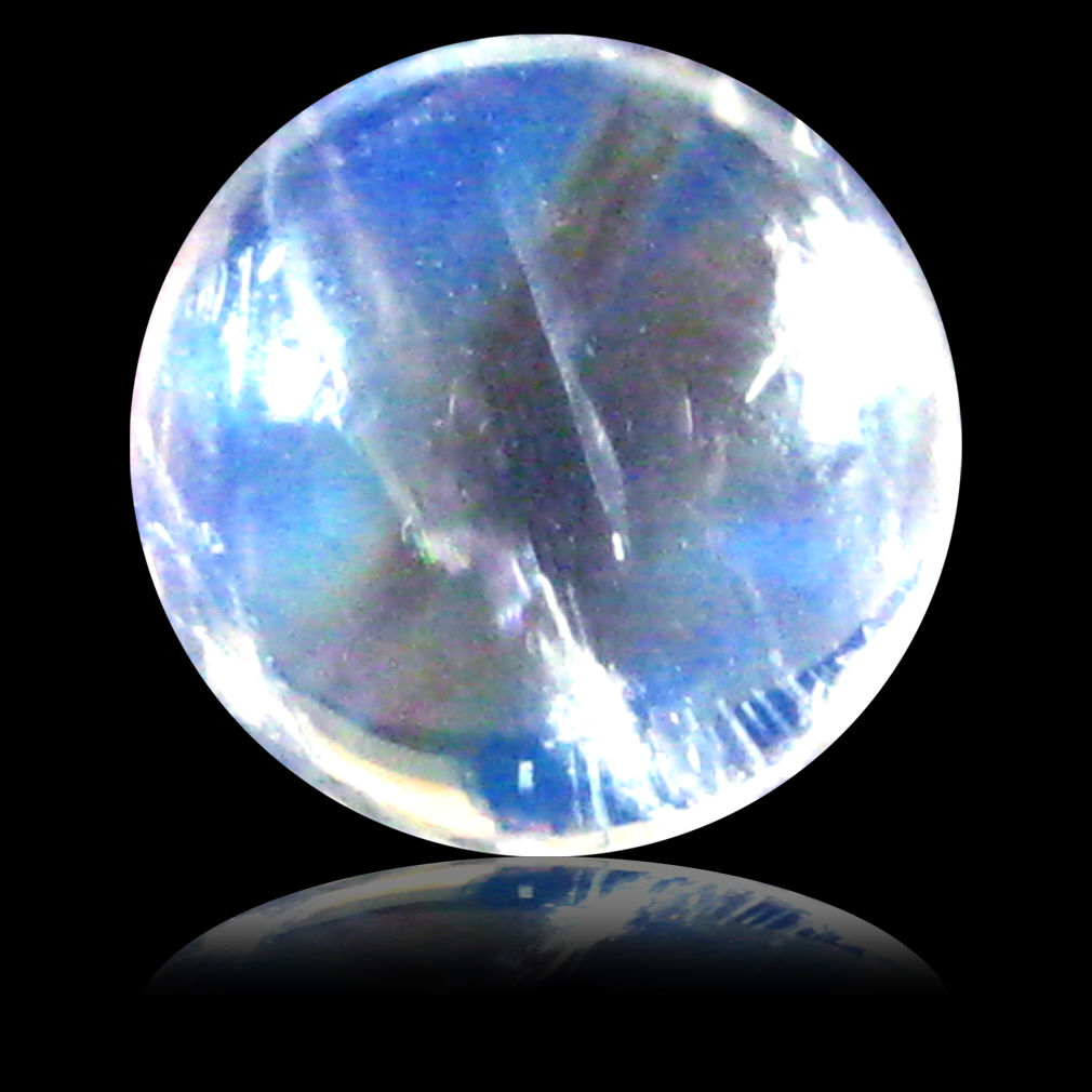 1.70 ct AAA Romantic Round Cabochon Shape (7 x 7 mm) Rainbow Blue Moonstone Natural Gemstone