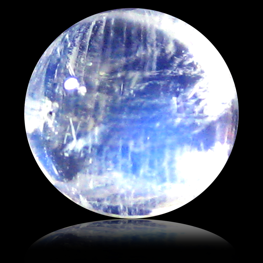 1.65 ct AAA Pleasant Round Cabochon Shape (7 x 7 mm) Rainbow Blue Moonstone Natural Gemstone