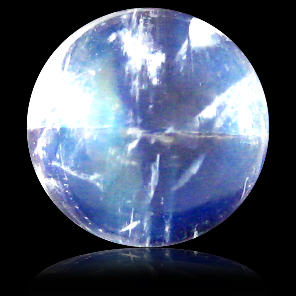 1.90 ct AAA Gorgeous Round Cabochon Shape (7 x 7 mm) Rainbow Blue Moonstone Natural Gemstone