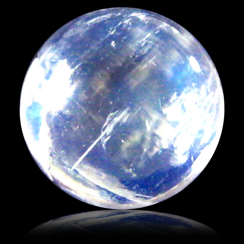 1.42 ct AAA Fair Round Cabochon Shape (7 x 7 mm) Rainbow Blue Moonstone Natural Gemstone
