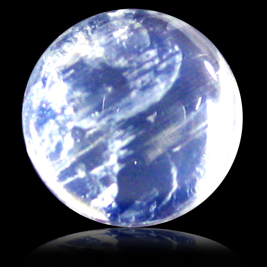 1.71 ct AAA Impressive Round Cabochon Shape (7 x 7 mm) Rainbow Blue Moonstone Natural Gemstone
