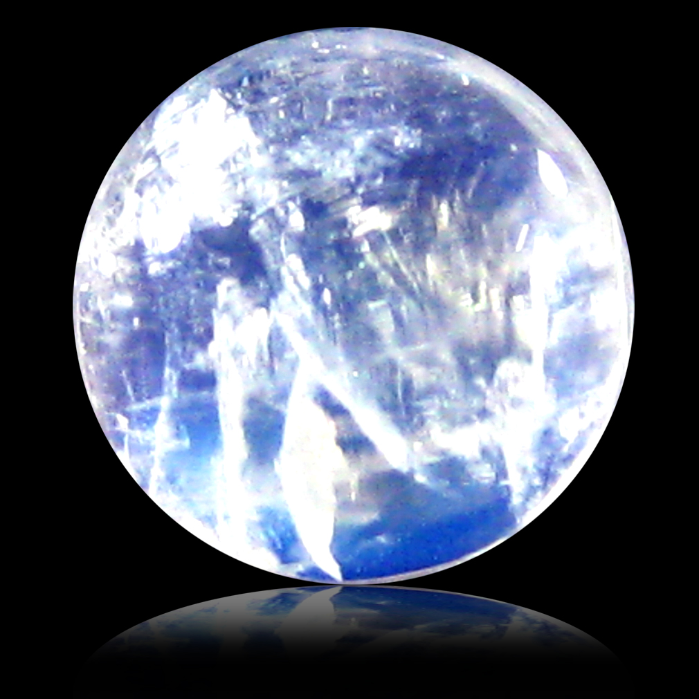 1.89 ct AAA Spectacular Round Cabochon Shape (7 x 7 mm) Rainbow Blue Moonstone Natural Gemstone