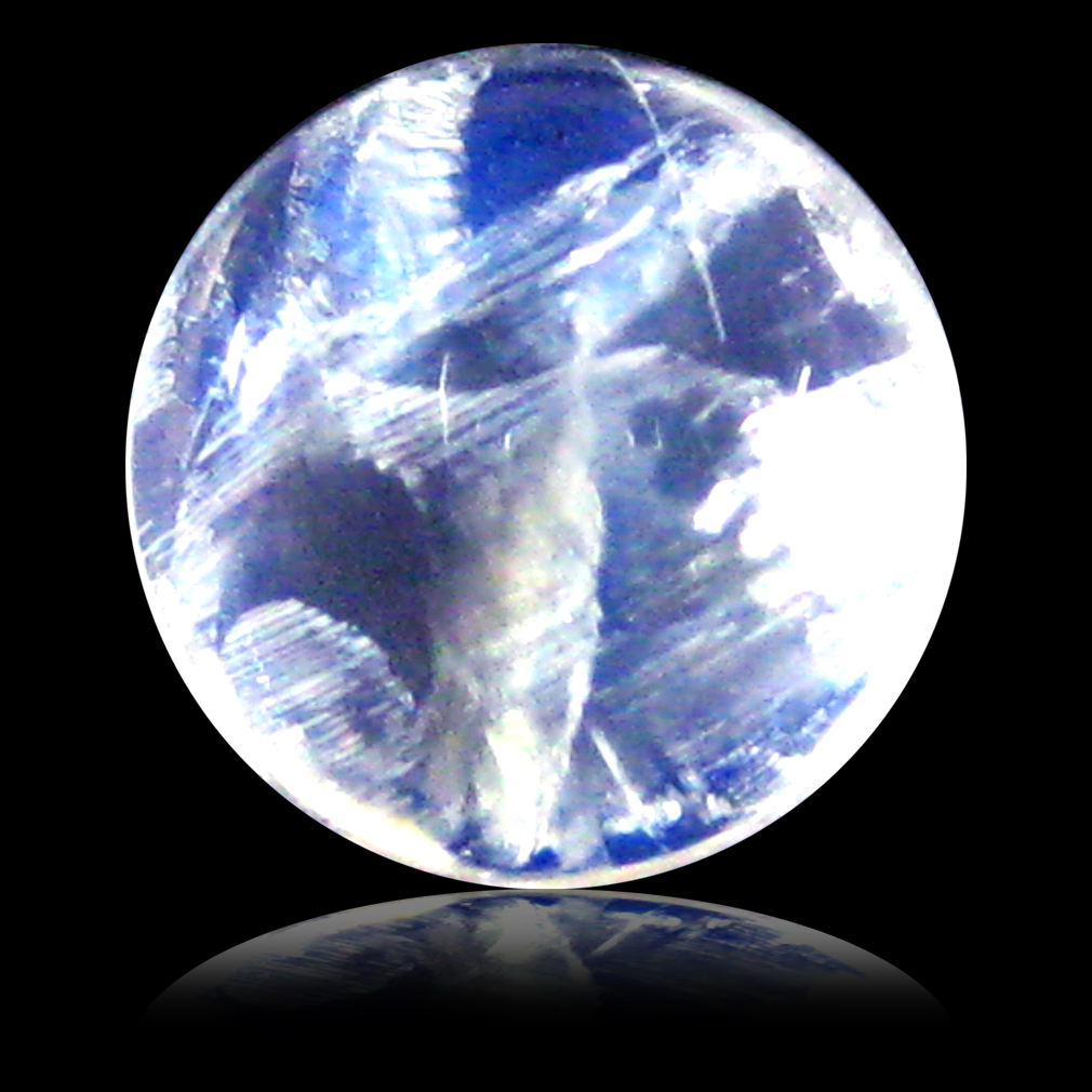 1.61 ct AAA Tremendous Round Cabochon Shape (7 x 7 mm) Rainbow Blue Moonstone Natural Gemstone