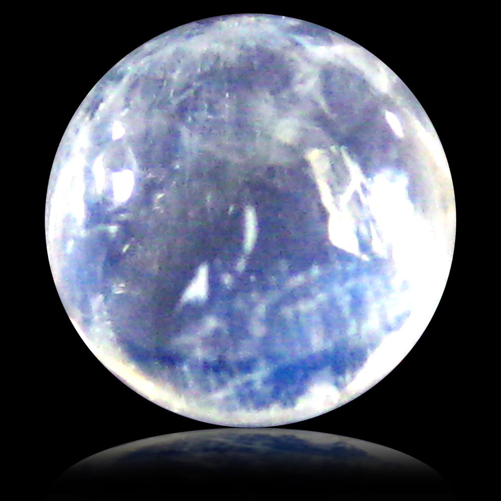 1.92 ct AAA Magnificent fire Round Cabochon Shape (7 x 7 mm) Rainbow Blue Moonstone Natural Gemstone