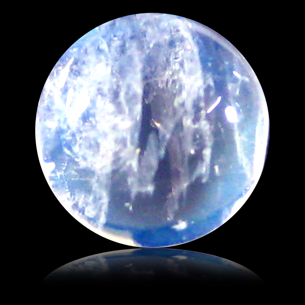1.59 ct AAA Attractive Round Cabochon Shape (7 x 7 mm) Rainbow Blue Moonstone Natural Gemstone