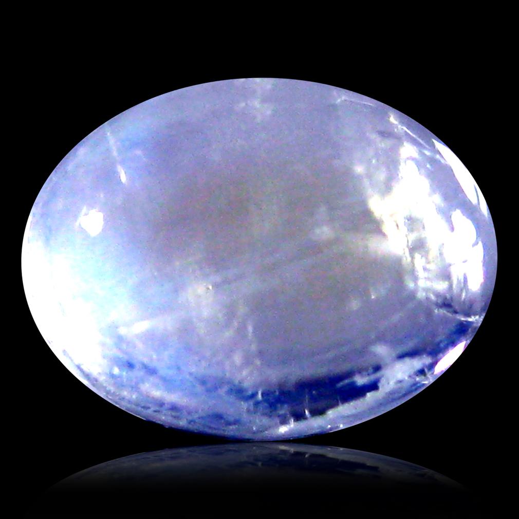 1.47 ct AAA Fabulous Oval Cabochon Shape (8 x 6 mm) Rainbow Blue Moonstone Natural Gemstone