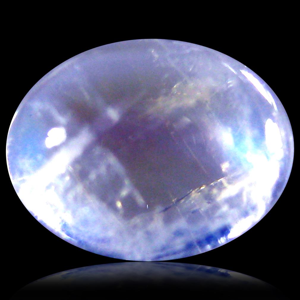 1.44 ct AAA Marvelous Oval Cabochon Shape (8 x 6 mm) Rainbow Blue Moonstone Natural Gemstone