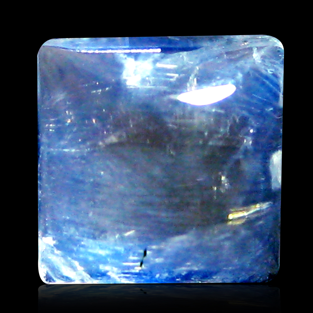 2.32 ct AAA Best Fancy Cabochon Shape (7 x 7 mm) Rainbow Blue Moonstone Natural Gemstone