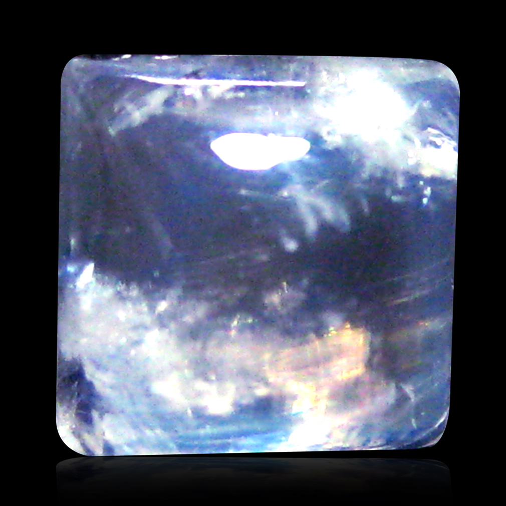 2.22 ct AAA Great looking Fancy Cabochon Shape (7 x 7 mm) Rainbow Blue Moonstone Natural Gemstone