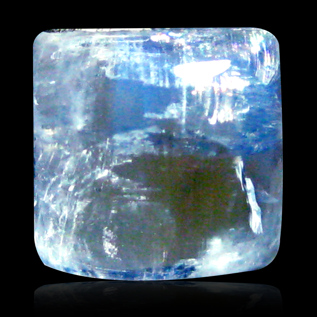 1.96 ct AAA Beautiful Fancy Cabochon Shape (7 x 7 mm) Rainbow Blue Moonstone Natural Gemstone