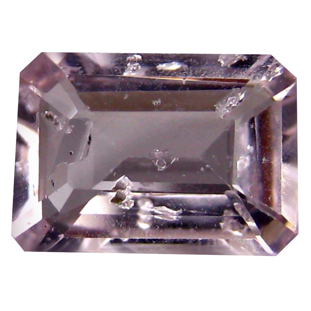 1.04 ct Eye-catching Octagon Cut (8 x 6 mm) Un-Heated Fancy Light Pink Morganite Natural Gemstone