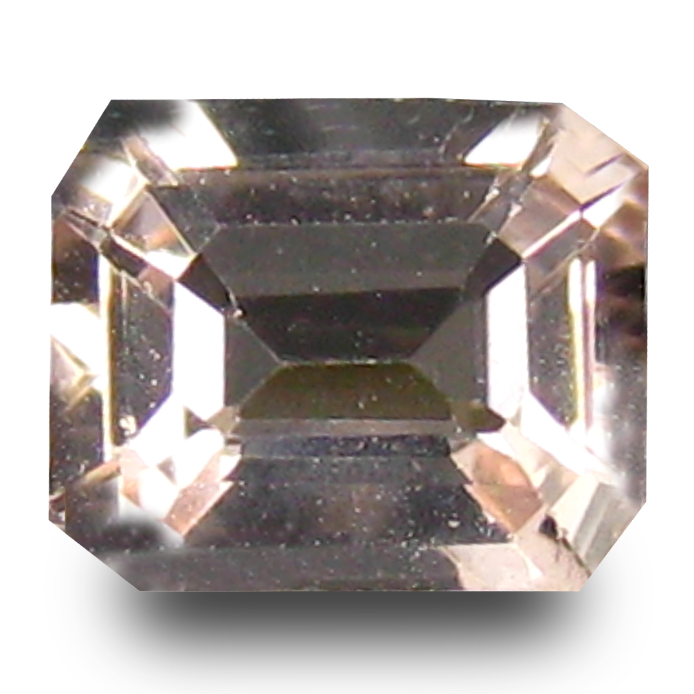 0.65 ct Outstanding Octagon Cut (6 x 5 mm) Pink Color Natural Morganite Natural Gemstone