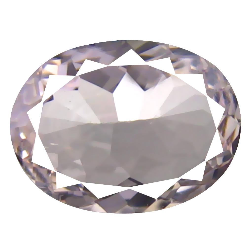 0.92 ct Oval Shape (8 x 6 mm) Brazilian Pink Morganite Loose Gemstone