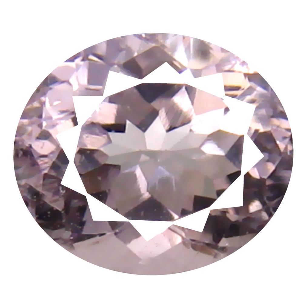 1.02 ct Oval Shape (7 x 6 mm) Brazilian Pink Morganite Loose Gemstone