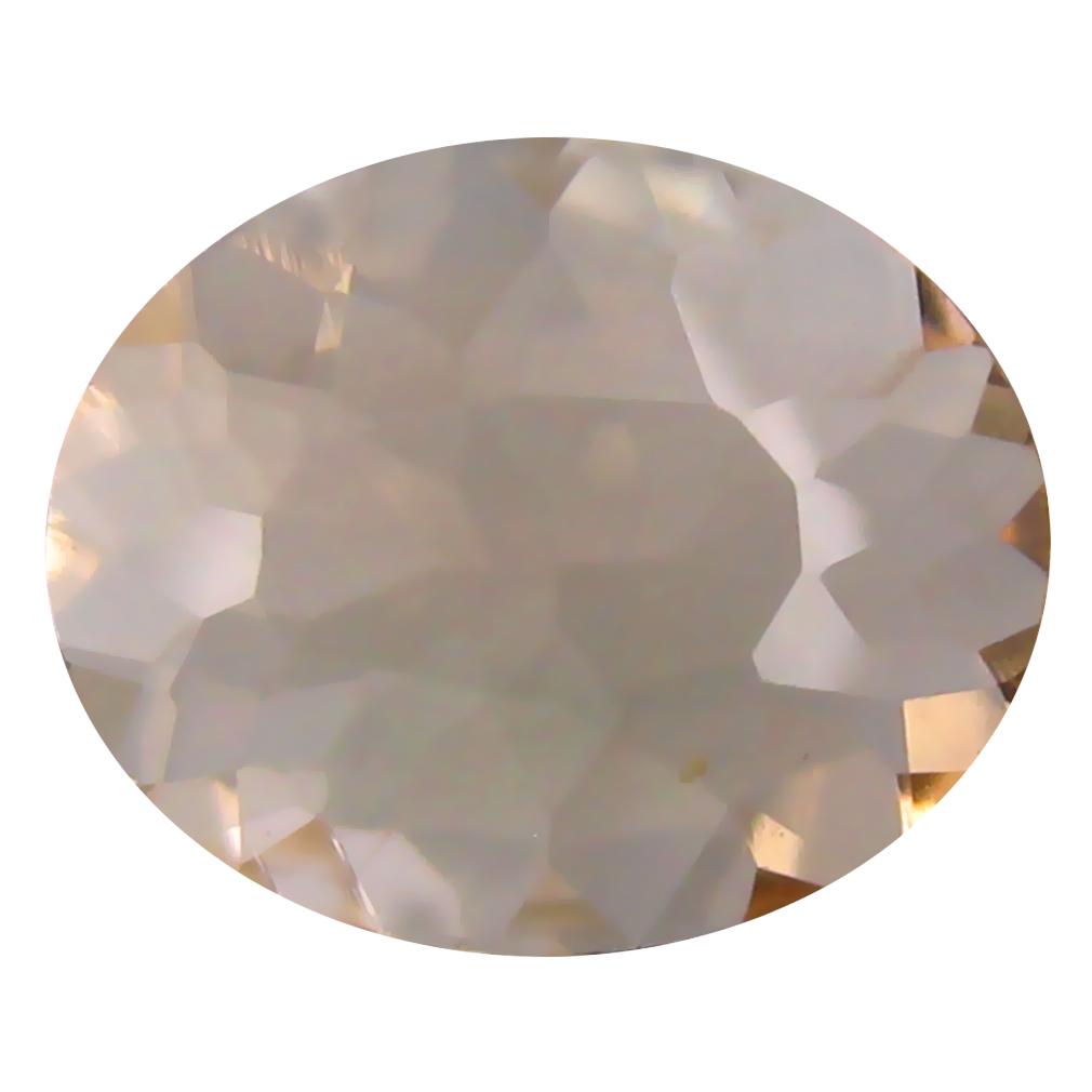 1.44 ct Oval Shape (10 x 8 mm) Brazilian Peach Pink Morganite Loose Gemstone