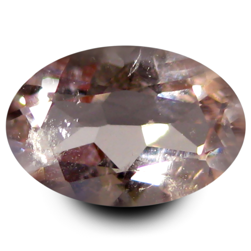 0.69 ct Great looking Oval Shape (7 x 5 mm) Peach Pink Morganite Genuine Stone