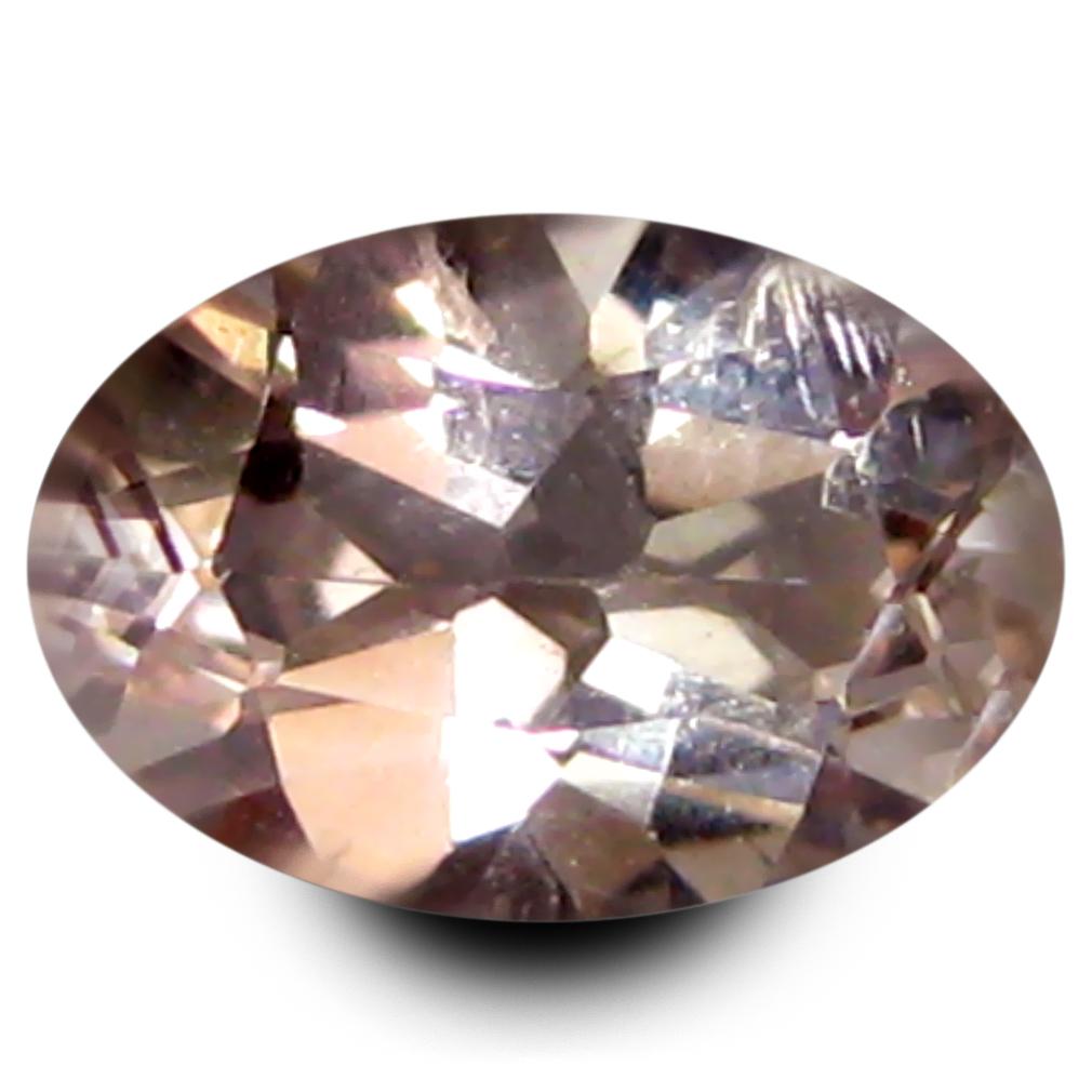 0.86 ct Stunning Oval Shape (8 x 6 mm) Peach Pink Morganite Genuine Stone