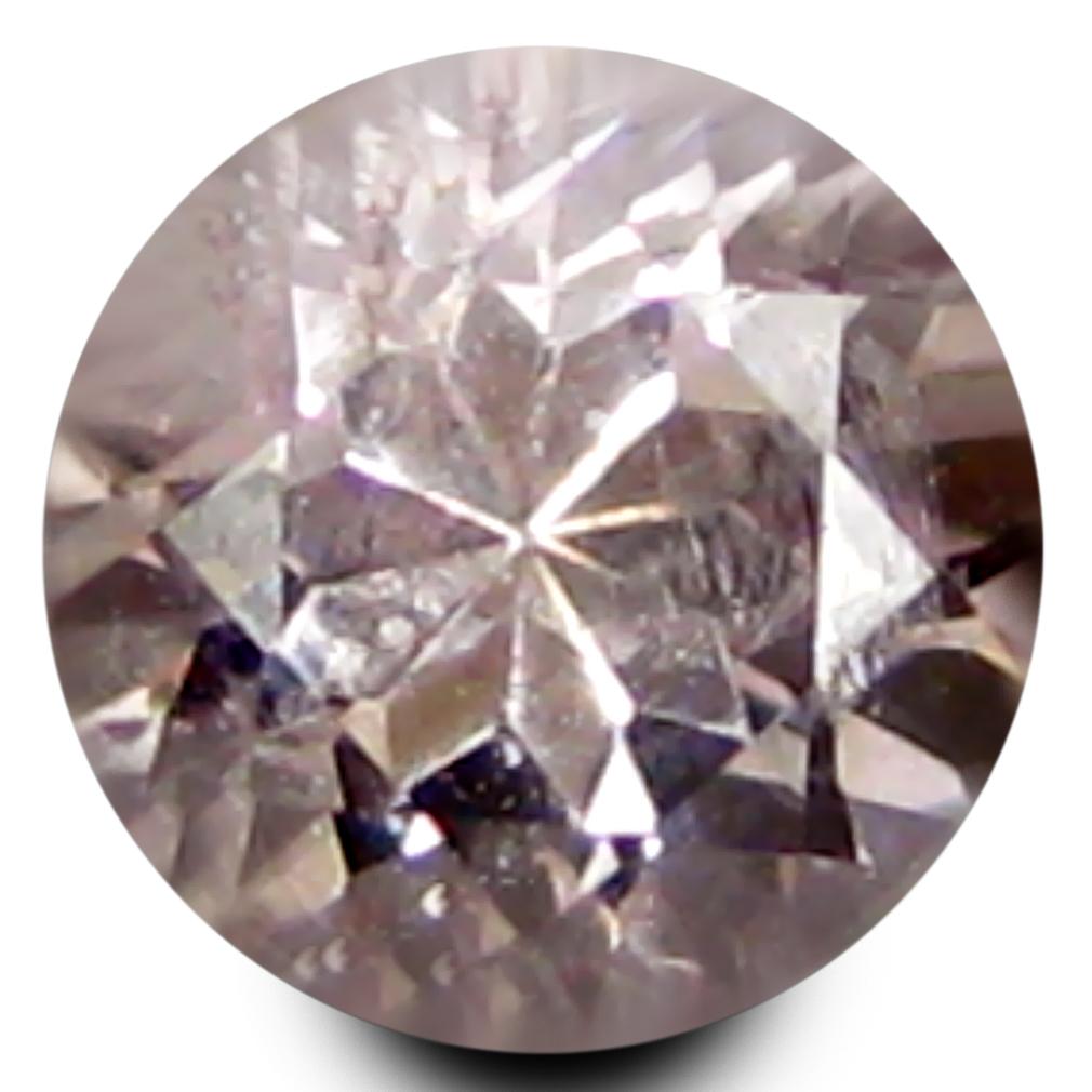 0.48 ct Super-Excellent Round Shape (5 x 5 mm) Peach Pink Morganite Genuine Stone