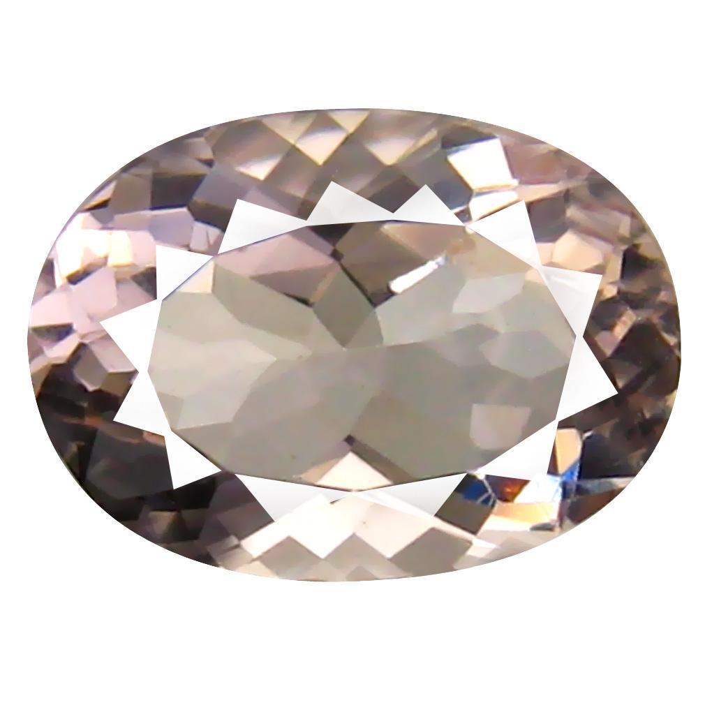 1.18 ct Oval Shape (8 x 6 mm) Brazilian Pink Morganite Loose Gemstone