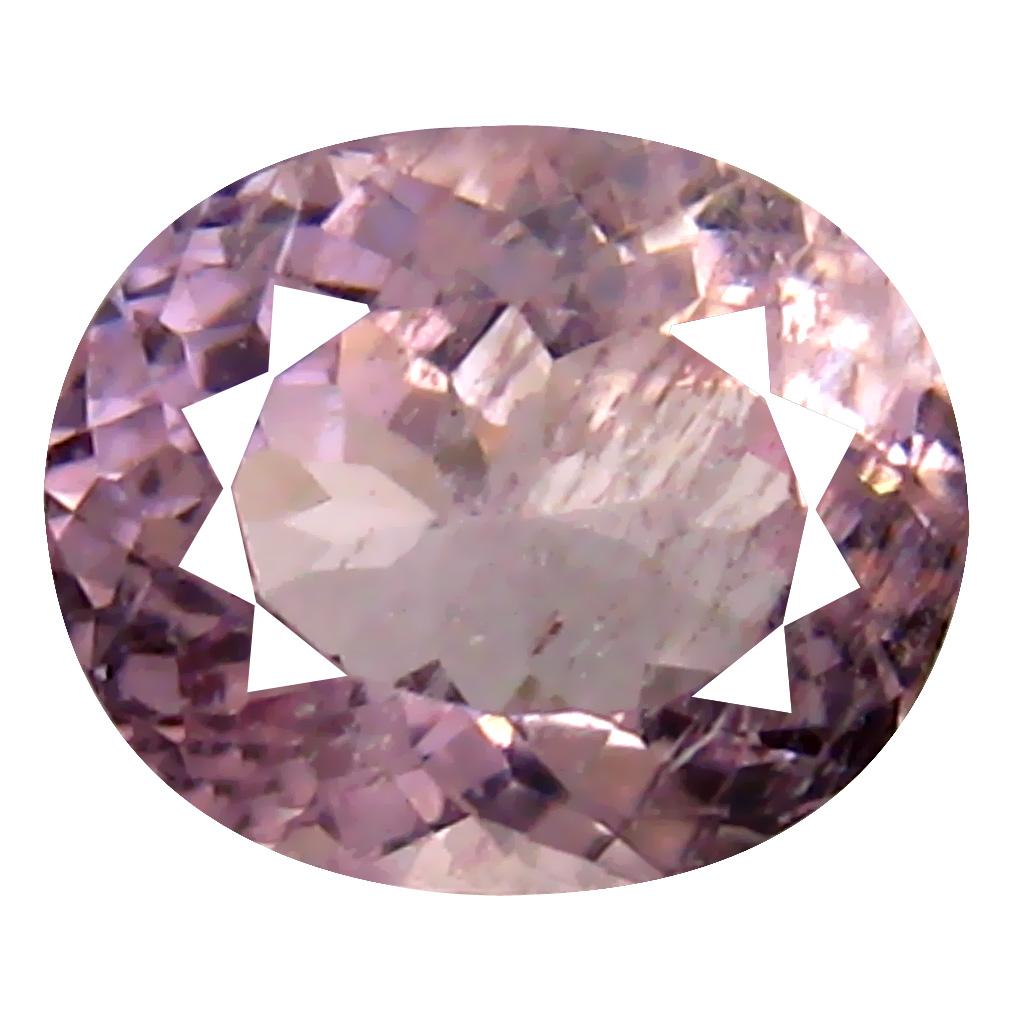 1.35 ct Oval Shape (8 x 6 mm) Brazilian Pink Morganite Loose Gemstone