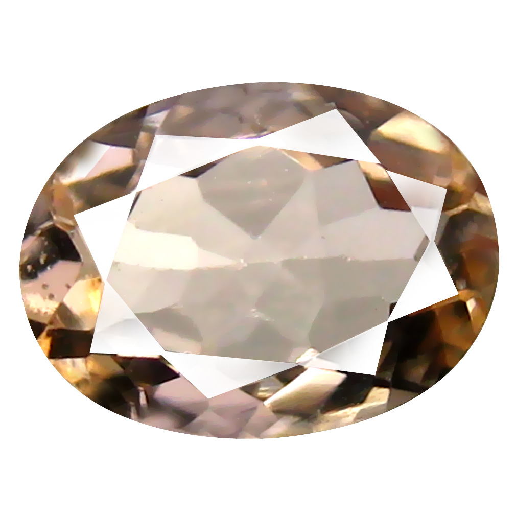 1.01 ct Oval Shape (9 x 6 mm) Brazilian Peach Pink Morganite Loose Gemstone