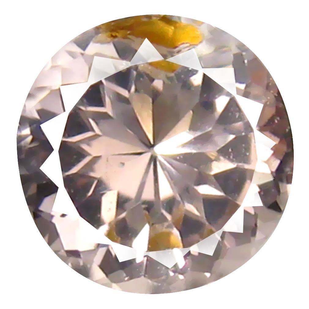 1.11 ct Round Shape (7 x 7 mm) Brazilian Peach Pink Morganite Loose Gemstone