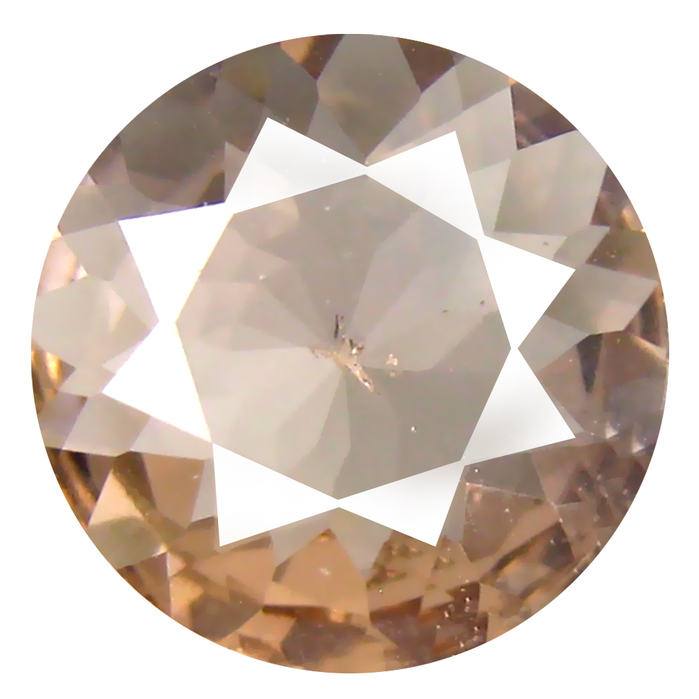 2.42 ct Round Shape (11 x 11 mm) Brazilian Peach Pink Morganite Loose Gemstone