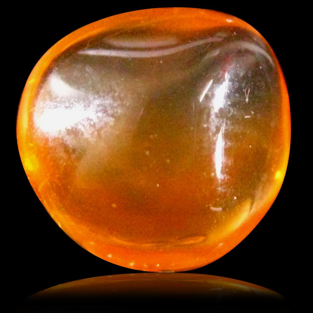 2.41 ct Amazing Fancy Cabochon Cut (9 x 7 mm) Un-Heated Natural Orange Fire Opal Loose Gemstone
