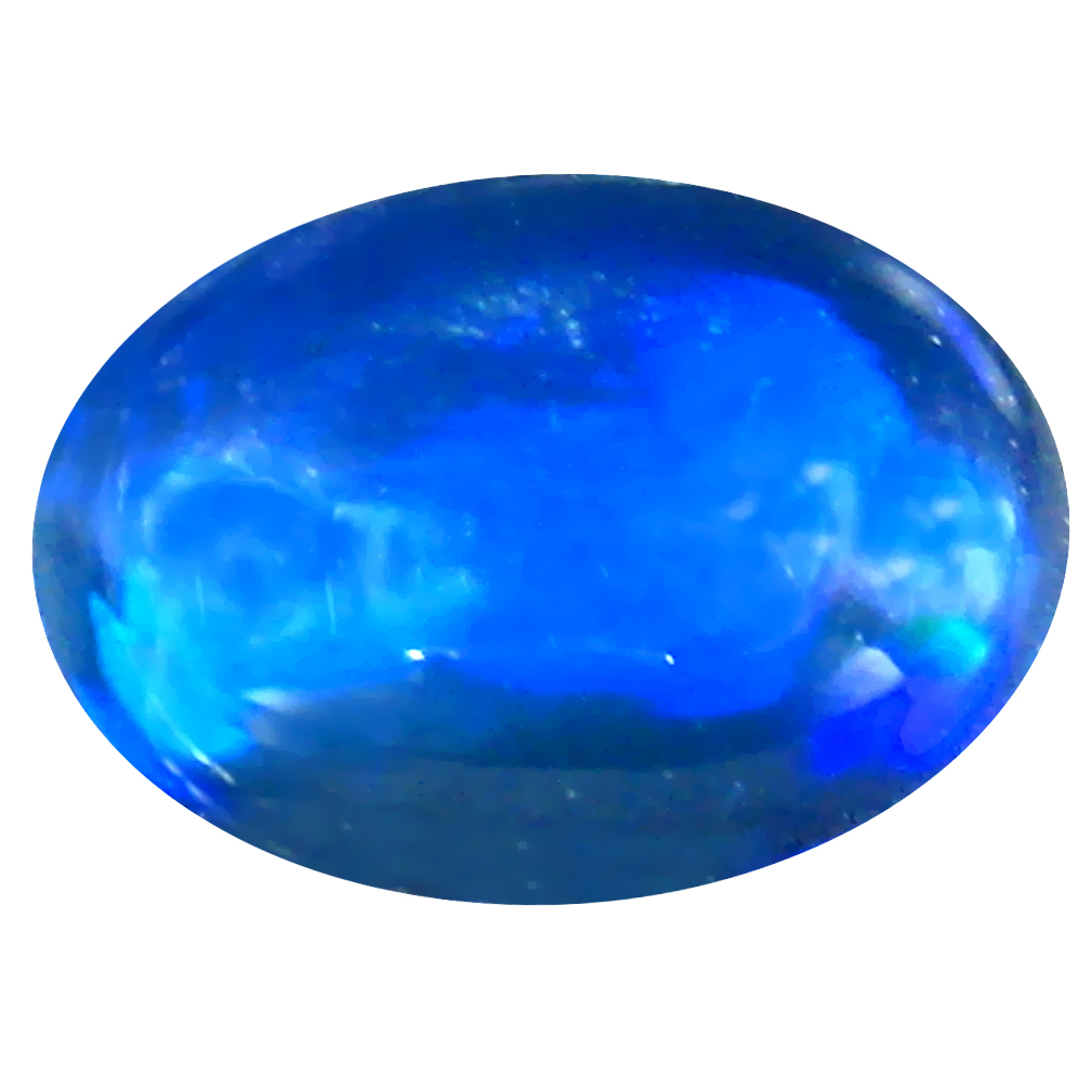 1.66 ct AAA Lovely Oval Cabochon Shape (12 x 8 mm) Natural Black Opal Loose Stone