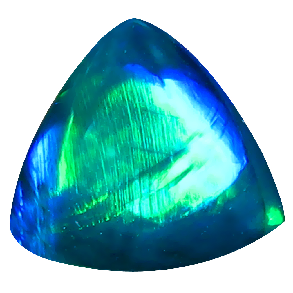 1.85 ct AAA Good-looking Triangle Cabochon Shape (9 x 9 mm) Natural Black Opal Loose Stone