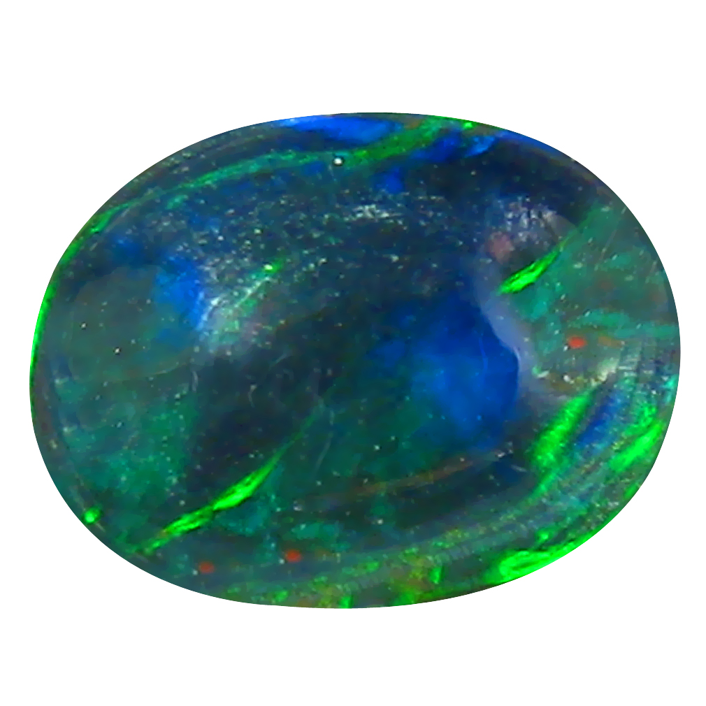 0.93 ct AAA Five-star Oval Cabochon Shape (10 x 7 mm) Natural Black Opal Loose Stone
