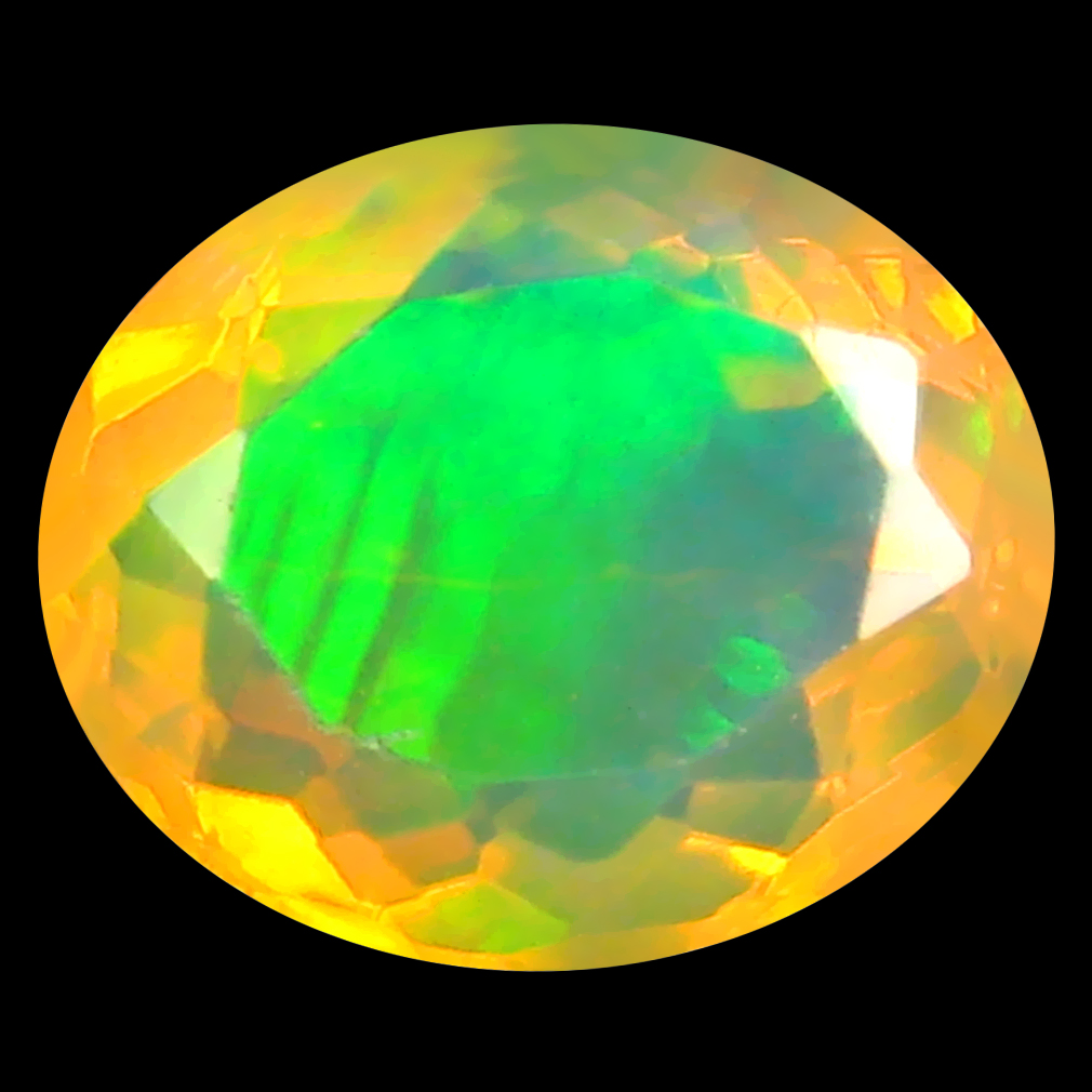 2.97 ct Excellent Oval (11 x 9 mm) Un-Heated Ethiopia Rainbow Opal Loose Gemstone
