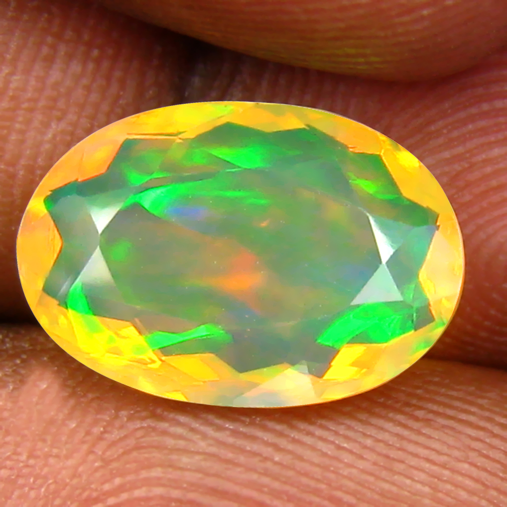 2.26 ct Elegant Oval (12 x 9 mm) Un-Heated Ethiopia Rainbow Opal Loose Gemstone