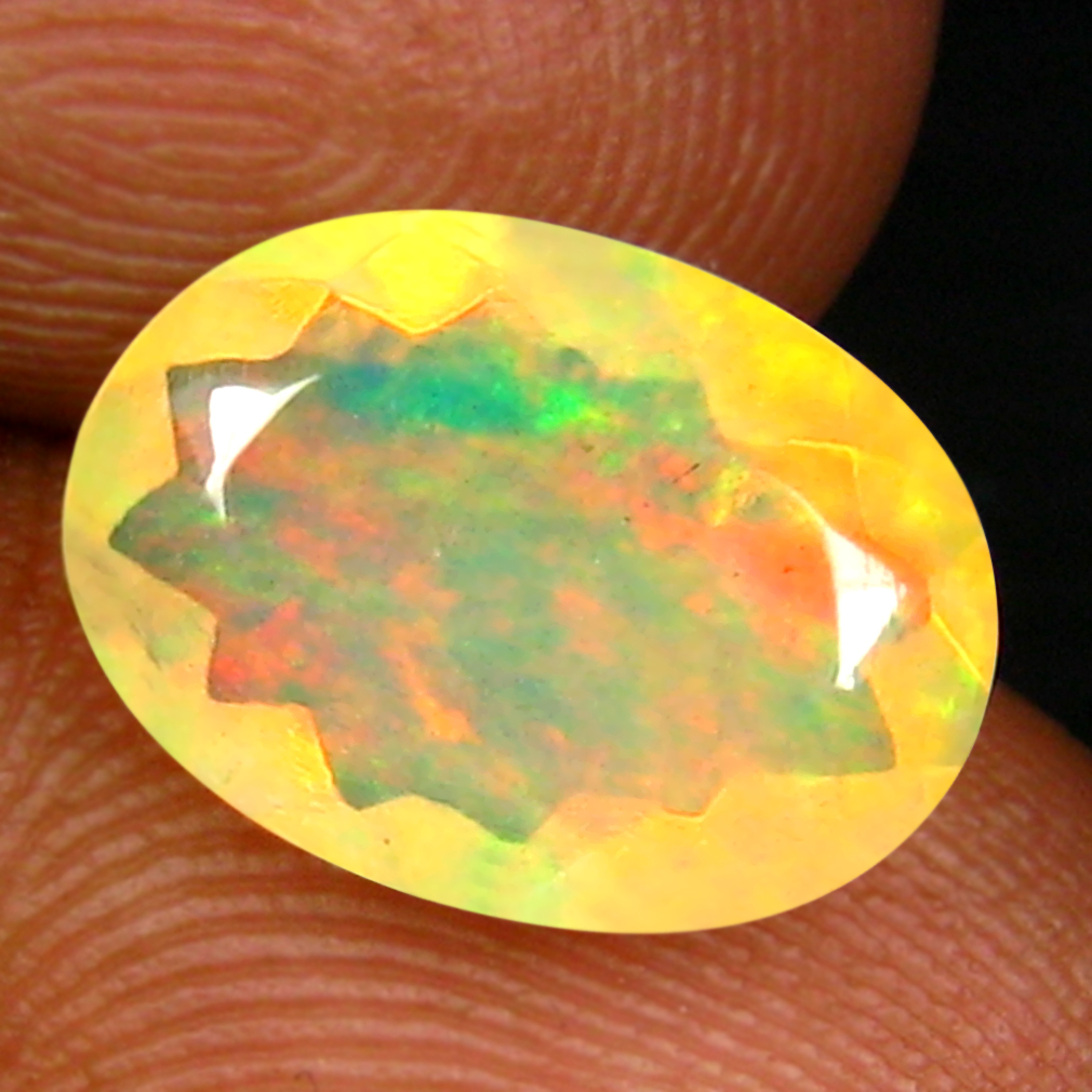 1.86 ct Pretty Oval (11 x 8 mm) Un-Heated Ethiopia Rainbow Opal Loose Gemstone