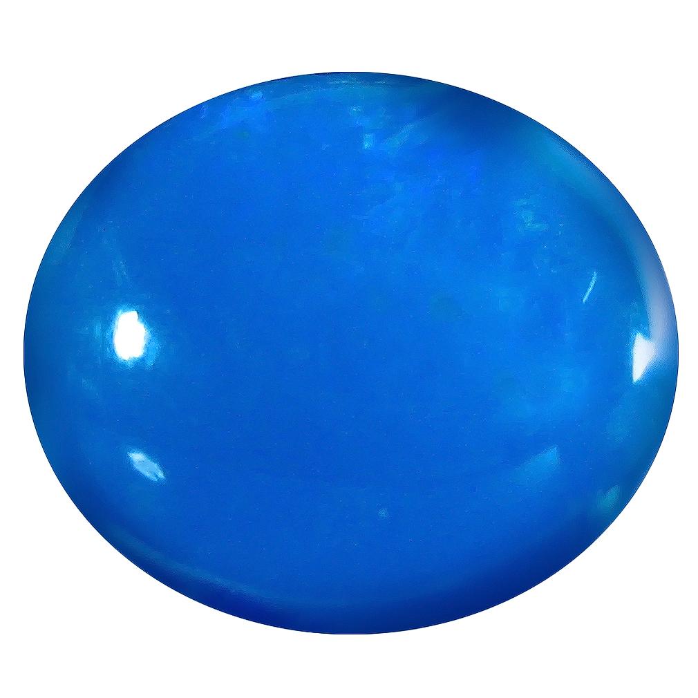 1.73 ct  Phenomenal Oval Cabochon Shape (10 x 9 mm) Blue Opal Natural Gemstone