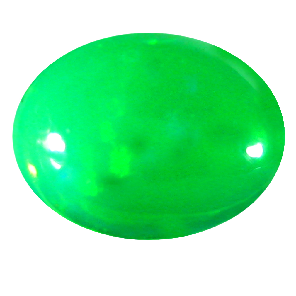 2.21 ct  Resplendent Oval Cabochon Shape (11 x 9 mm) Green Opal Natural Gemstone