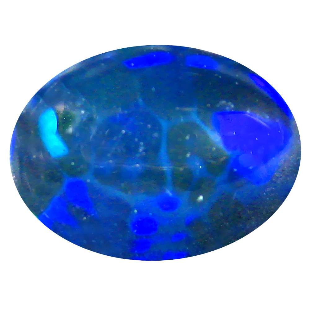 2.73 ct AAA Magnificent Oval Cabochon Shape (13 x 10 mm) Natural Black Opal Loose Stone