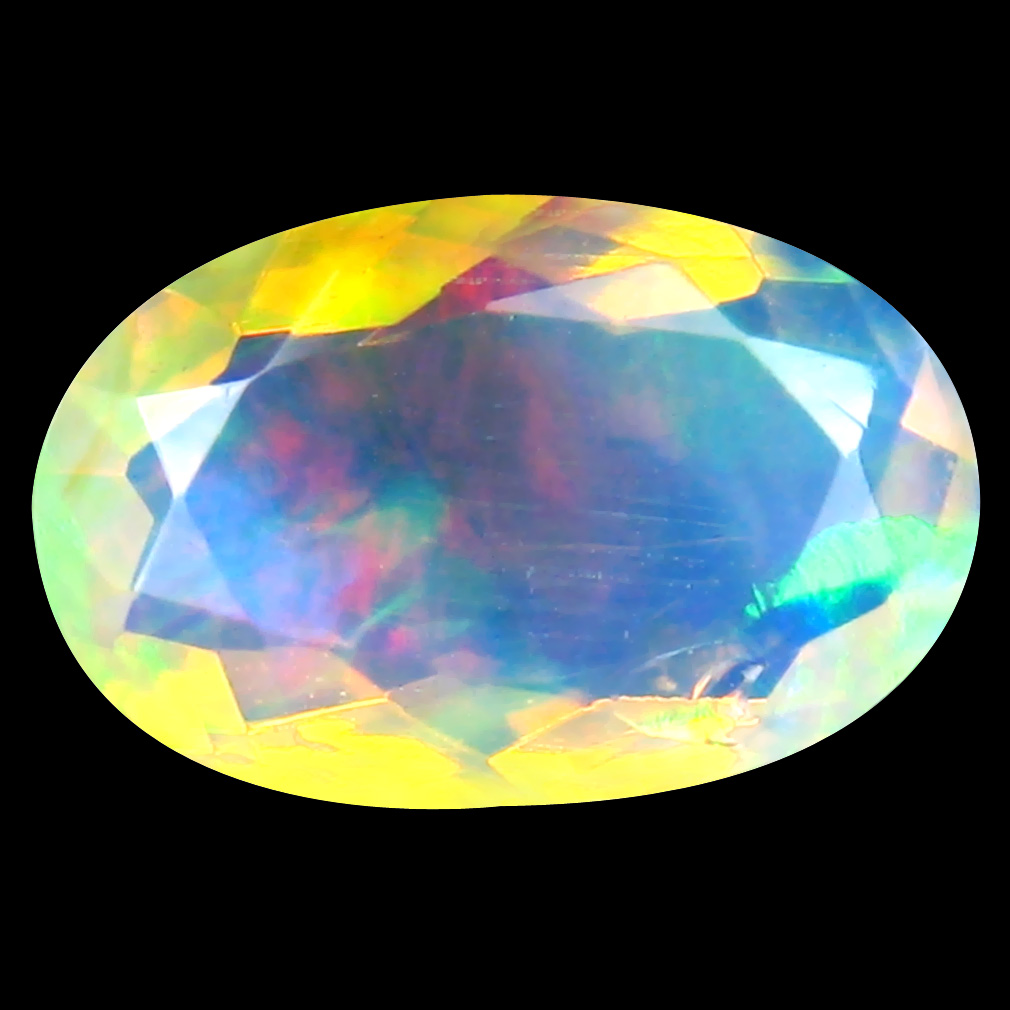 2.08 ct Super-Excellent Oval (13 x 8 mm) Un-Heated Ethiopia Rainbow Opal Loose Gemstone