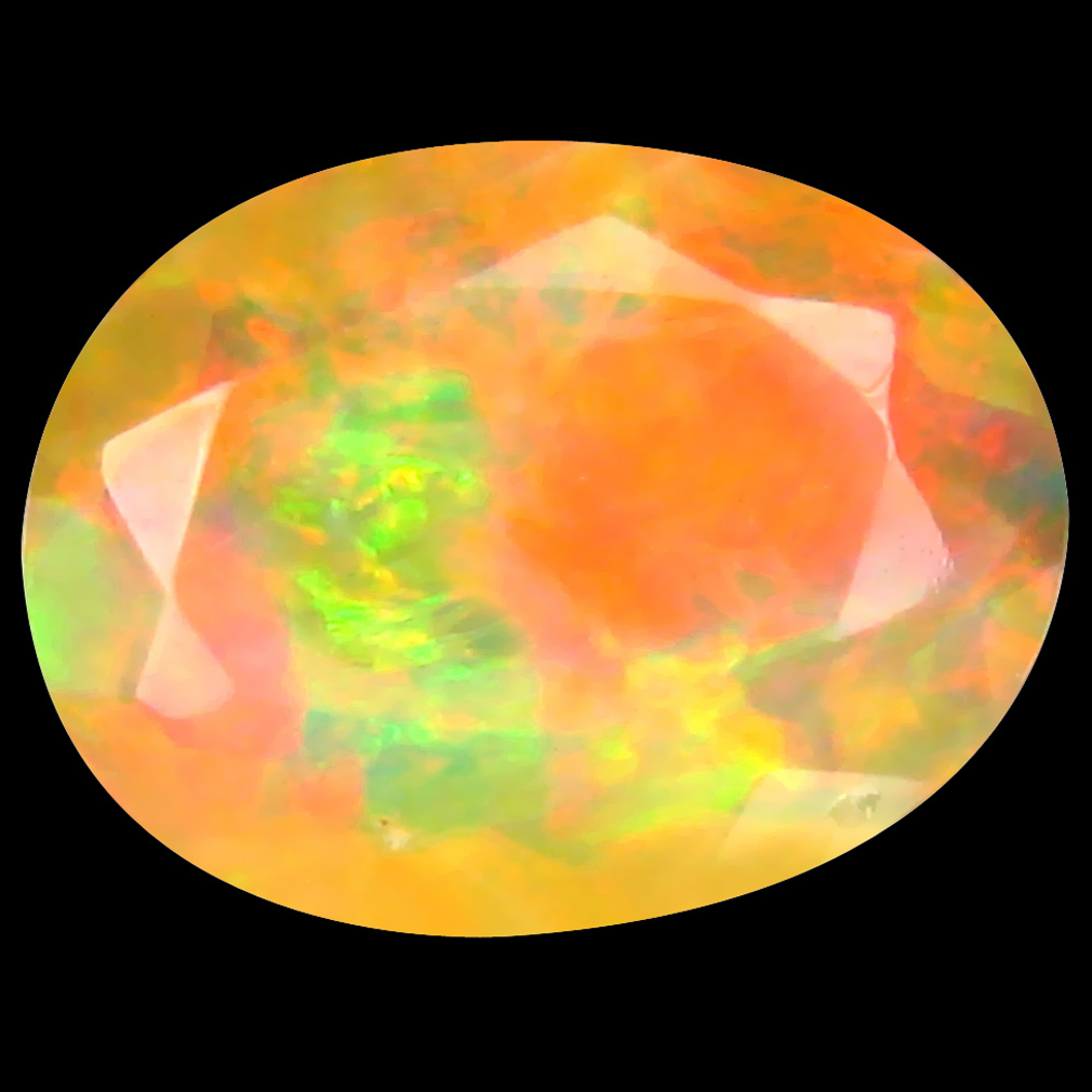 1.66 ct Beautiful Oval (11 x 8 mm) Un-Heated Ethiopia Rainbow Opal Loose Gemstone