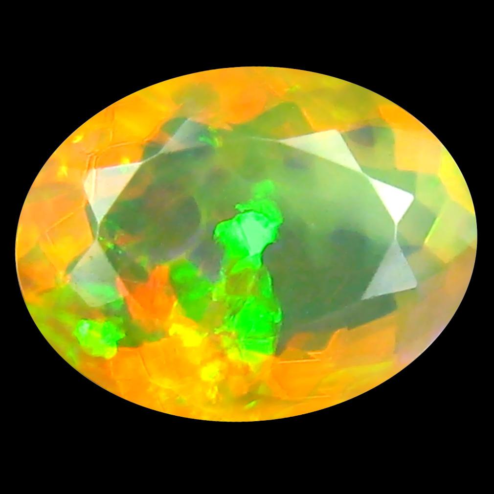 1.86 ct Dazzling Oval (10 x 8 mm) Un-Heated Ethiopia Rainbow Opal Loose Gemstone