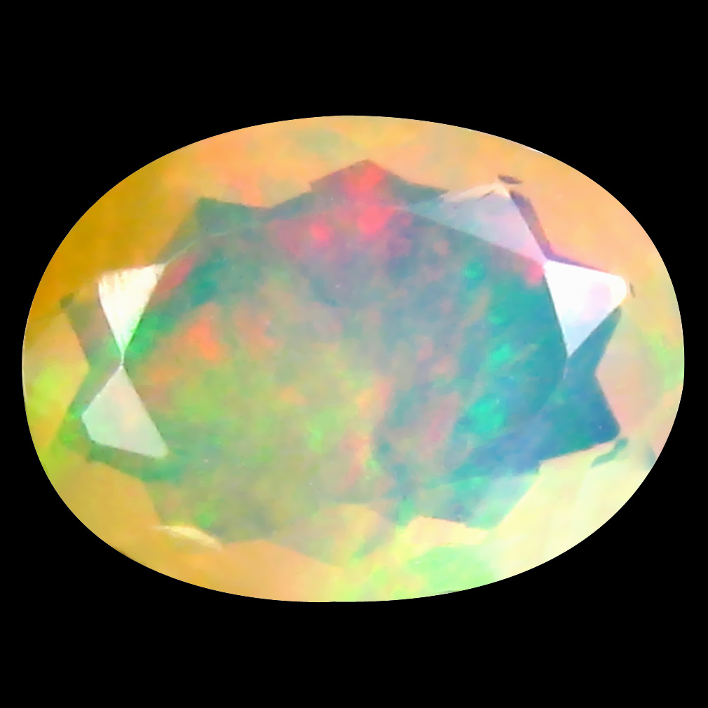 1.42 ct Best Oval (10 x 7 mm) Un-Heated Ethiopia Rainbow Opal Loose Gemstone