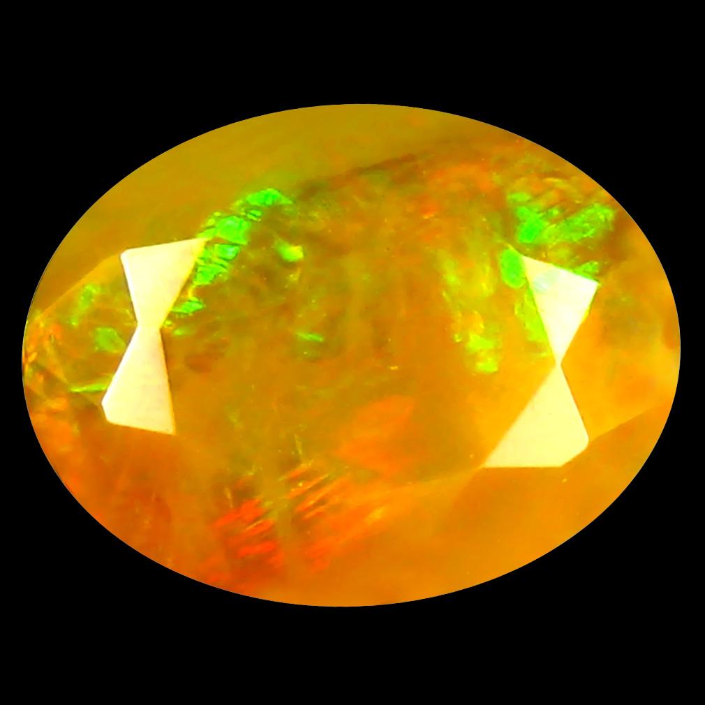 2.50 ct Elegant Oval (12 x 9 mm) Un-Heated Ethiopia Rainbow Opal Loose Gemstone