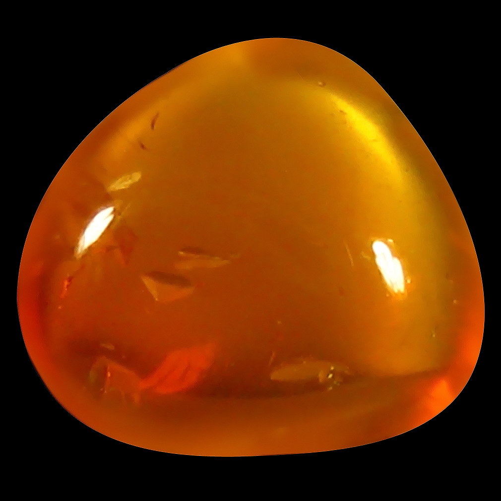 1.80 ct Stunning Fancy Cabochon Cut (8 x 7 mm) Unheated / Untreated Natural Red Fire Opal Loose Gemstone