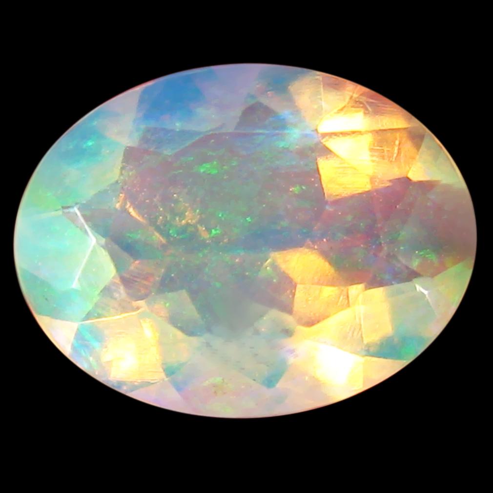 1.02 ct Wonderful Oval Cut (9 x 7 mm) Flashing 360 Degree Multicolor Rainbow Opal