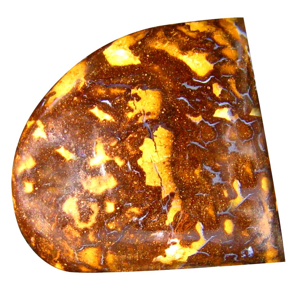 23.17 ct Good-looking Fancy Cabochon Shape (23 x 21 mm) Play of Colors Australian Koroit Boulder Opal Natural Loose Gemstone