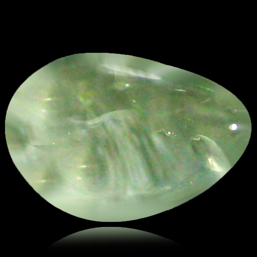 1.53 ct Resplendent Fancy Cabochon Cut (10 x 7 mm) Un-Heated Natural White Opal Loose Gemstone