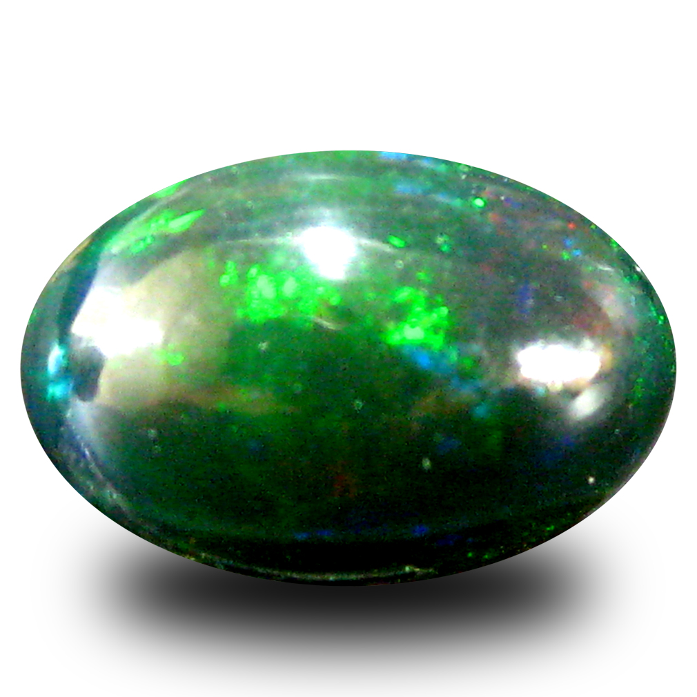 1.81 ct AAA Pretty Oval Cabochon Shape (11 x 7 mm) Natural Black Opal Loose Stone