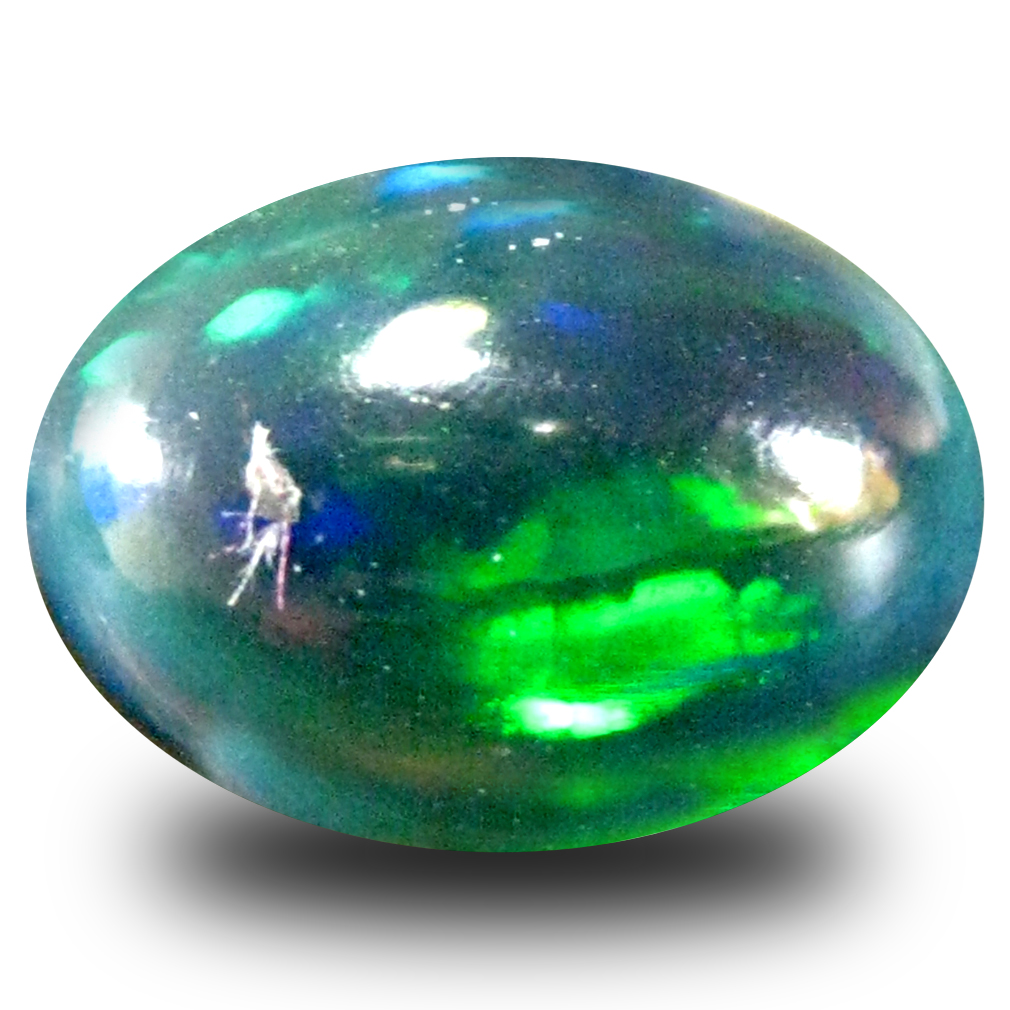 2.35 ct AAA Superb Oval Cabochon Shape (12 x 9 mm) Black Opal Loose Gemstone - $9.99   PicClick
