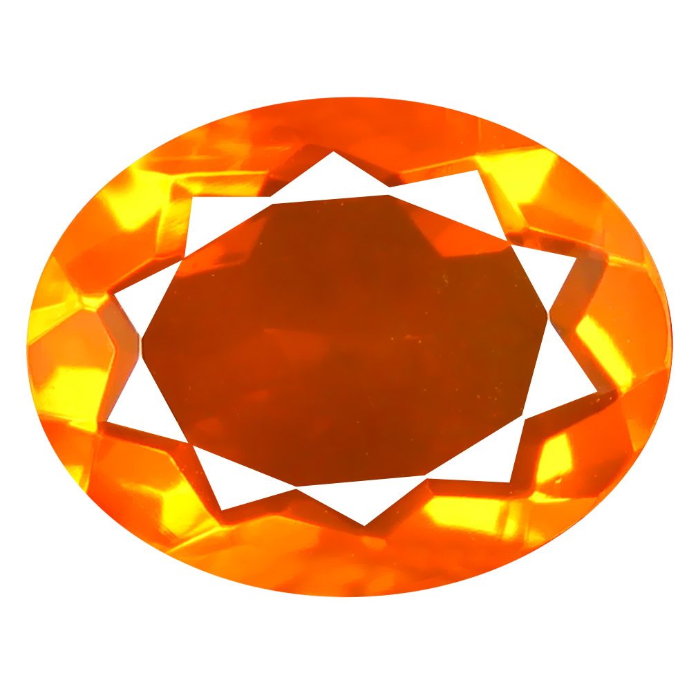 2.93 ct Superior Oval Cut (13 x 10 mm) Mexico Orange Red Fire Opal Natural Gemstone